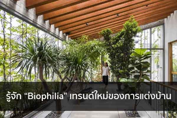 """รู้จัก """"Biophilia"""" เทรนด์ใหม่ของการแต่งบ้าน Trendy Home แต่งบ้าน ปรับคอนโด"""